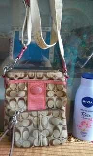 Coach sling bag and wristlet