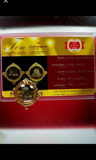 Lp yiam phra pidta with 3 hook gold case