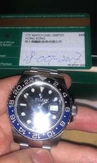 Rolex 勞力士 GMT Master II 116710BLNR 藍針