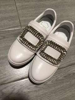 RV同款 春季新款女 白鞋平底鞋