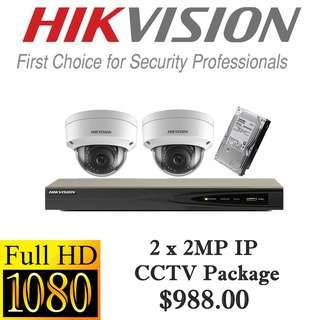 HIKvision 1080P IP CCTV Package 2++++