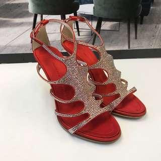 Giuseppe Zanotti Design Satin Sandals