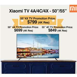 "TV Xiaomi Android TV 4A/4C/4X 50""/55""/55"" Build in Mitv Box (Ready Stock)"
