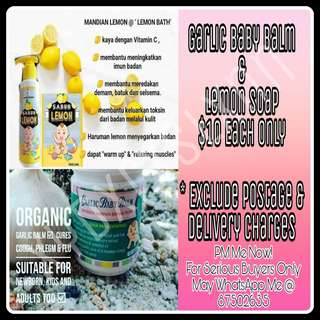 Lemon Soap & Garlic Baby Balm