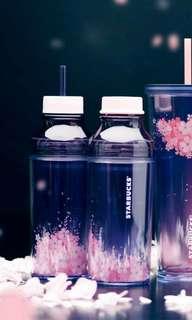 Starbucks Sakura 2018 Purple Tumbler with Straw and 2 lids