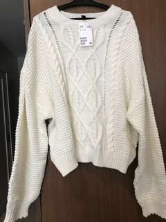 H&M Divided Knitted / Pullover / Longsleeves / Sweater Cream