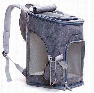 🚚 Summer pet linen canvas backpack well designed for motorbike pawrents cat dog rabbit chinchilla