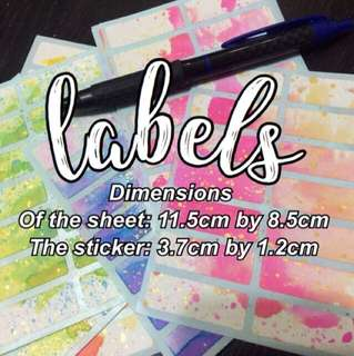 [bulk orders] labels/name stickers