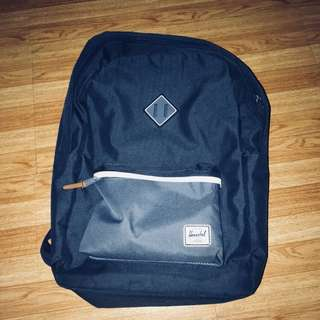 blue herschel heritage backpack