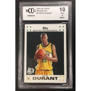 Kevin Durant Rookie Card 2007-08 Topps Rookie Set Original