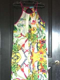 Nautilus chiffon maxi dress/ cover up