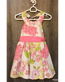 Floral dress, halter, ties at the back