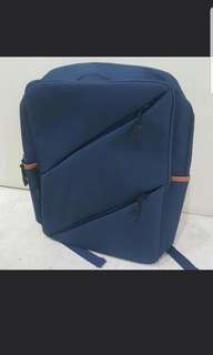 BNWT Backpack Unisex Laptop Bag Many Compartments Navy Blue