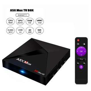Best Box in the martket: A5x Max 4G ram + 32G rom , android tv box , android tv 4gb