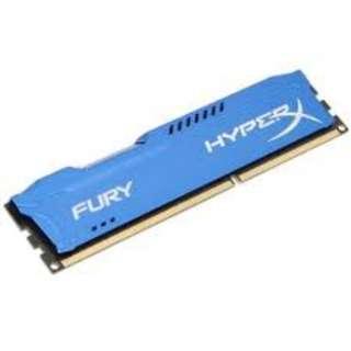 (二手)Kingston HyperX Fury Blue DDR3 1866 8GB 95%NEW