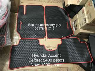 Accent Rubber matting set