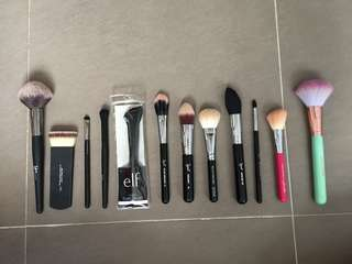 Make Up Brushes (Sigma, Real Techniques, ELF, IT Cosmetics)