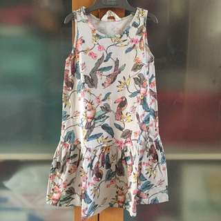 H&M grey bird dress