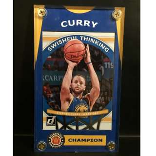 Stephen Curry Sports Card Warriors Three Times NBA Champion