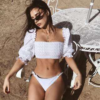 Summer dreaming crop top white
