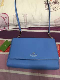 Kate Spade藍色斜孭袋