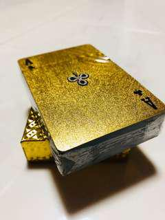 Gold poker cards.