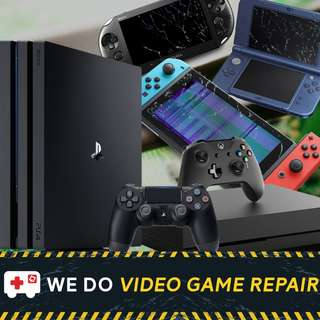 Console Repair Services (PS3, PS4, PS Vita, 3DS, Nintendo Switch, Xbox One)