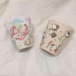 🚚 全新✨ 日本帶回 正版!迪士尼公主.史努比漱口杯/水杯