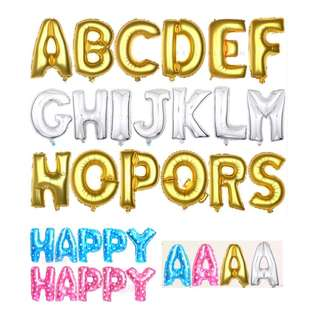 """16"""" Letter (A-Z, &, @) Balloons"""