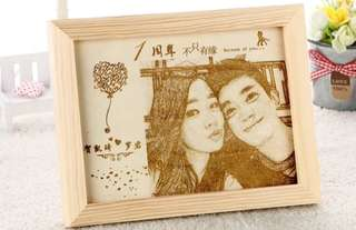 Crafted photo frame memory lane gift
