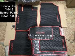 Honda Civic Rubber matting set