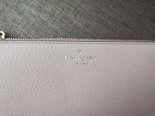 Original Kate Spade Nisha Atwood Place Long Wallet with Tassel in Taupe