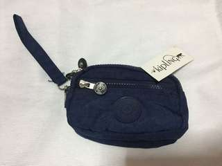 Kipling Navy Blue Pouch with Wristlet