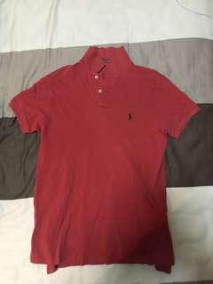 Red Ralph Lauren shirt