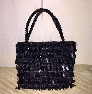 Pre-Loved. Formal Beaded Mini Tote Bag (Hand-sewn)