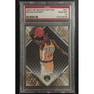 Kevin Durant Card 2007 Rookie Edition Graded by PSA Original