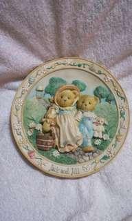 #IKEA50 Vintage Priscilla Hillman Cherished Teddies Mini Ceramic Plate - Jack & Jill