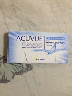 Acuvue contact lens for astigmatism