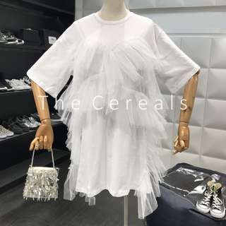 TC2536 Korea Sash Designer Shirt Dress (White,Black)