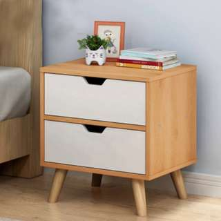 Stylish Bedside Table with Drawers