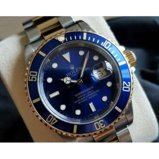 二手 Rolex Two Tone Submariner BLUE