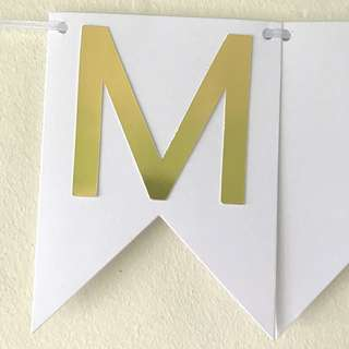 Customised handmade birthday name banner