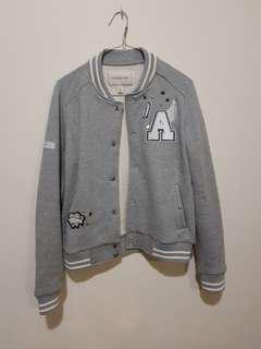 LIKE NEW Grey baseball bomber jacket ForeverNew