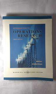Introduction to Operations Research by Hillier and Lieberman