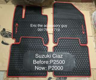 Suzuki ciaz Rubber matting set
