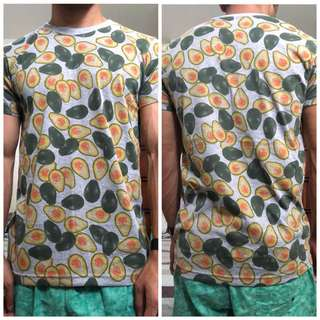 Mens Patterned T-shirt (Avocado)