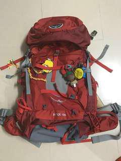 Osprey 55L 露營 ⛺️camp camping 徙步 野營 攀石 攀岩 旅遊 holiday ws