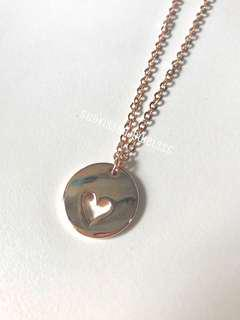 Heart-Cut Coin Necklace