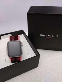 全新未激活行貨 Apple Watch Nike+ S3 38mm SI AI Crim/ Blk Nike Sport Loop (GPS + Cellular)