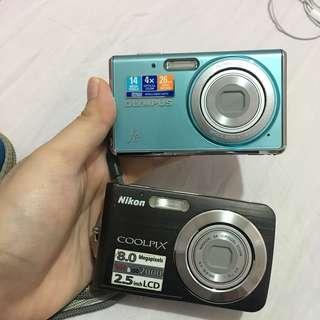 Olympus & Nikon Coolpix digital camera